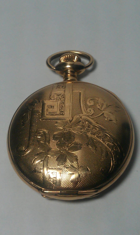 Illinois Watch Co. Antique Gold Pocket Watch | 897 x 1500 jpeg 193kB