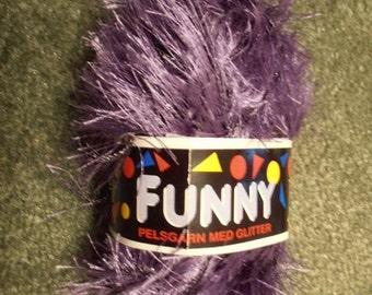 Destash Yarn - Pelsgarn Funny - Purple
