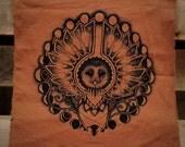 Owl & Moon Back Patch Silkscreened