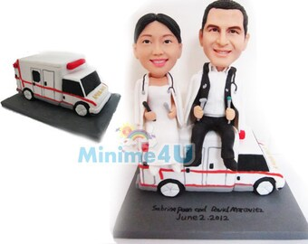 doctor theme custom handmade wedding cake topper  (Free Shipping Worldwide)