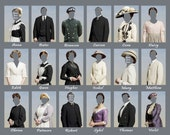 Downton Dress Up, Single or Group Digital Photo Collection Party Favor