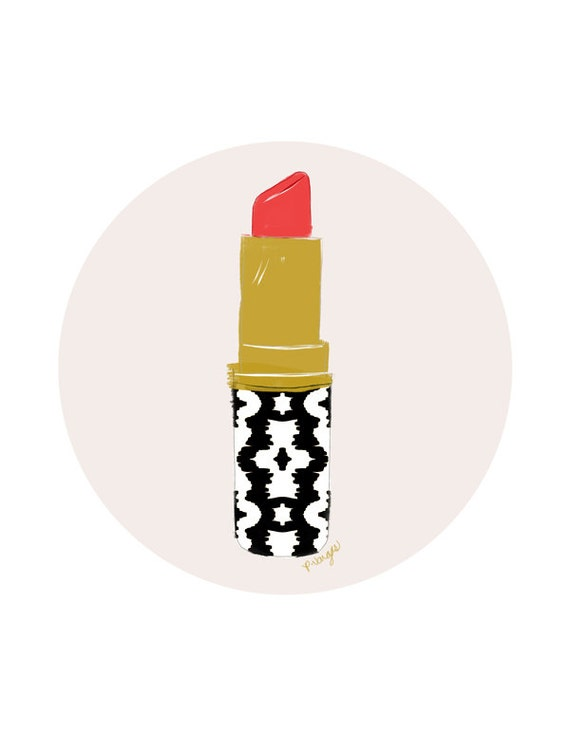 Items Similar To Lipstick No One Illustration Print On Etsy