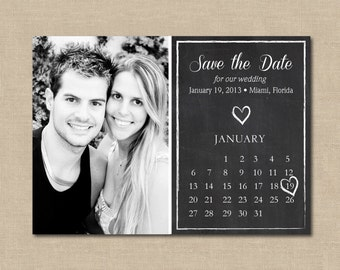Save the Date Chalkboard: Photo, Digital File