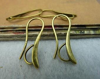 20pcs 14x28mm Antique bronze / Antique Silver Ear Hooks Earwire Earring Accessories Wholesales AC2158