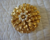 Gold and Pearl Broach