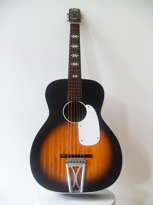 vintage harmony stella parlor acoustic guitar. Black Bedroom Furniture Sets. Home Design Ideas