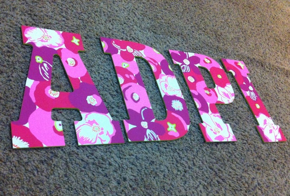 adpi wooden letters lilly print