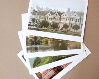 Set of 4 Blank Photo Note Cards: SAN FRANCISCO