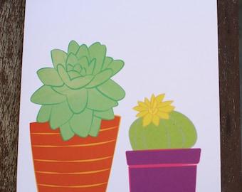 Succulent Cactus Birthday Card