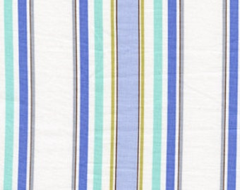 Leanika Dena Fishbein stripe blue 0,5 m pure Cotton fabric