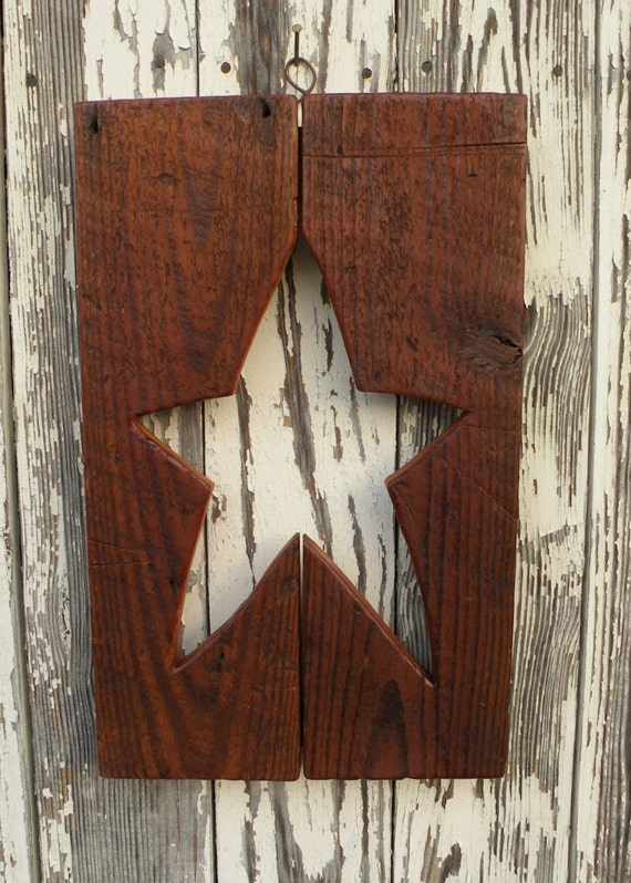 Items Similar To Primitive Star Wall Decor On Etsy