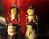 Wolfsbane /  Mountain Ash Bottle Necklace