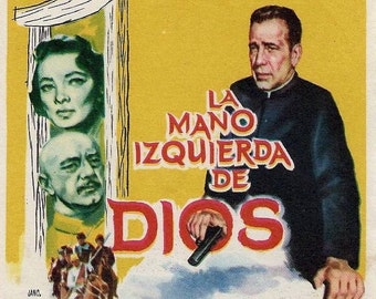 The Left Hand of God movie poster - Humphrey Bogart, Gene Tierney