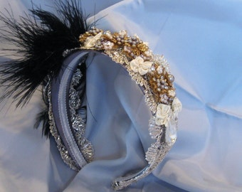 One Of A Kind Artisian Headband with 1920's Flare