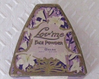 Antique Lov'me Face Powder Box by Melba