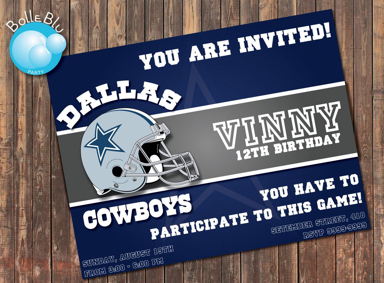 Dallas Cowboy Invitations Free Printable Invitation Template - Cowboy birthday invitation template