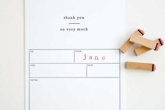 Fill In The Blank Thank You Card