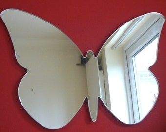 Butterfly Big Wings Mirror - Silver Acrylic Mirror in several Sizes