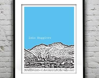 Lake Maggiore Poster  Art Print Europe Italy