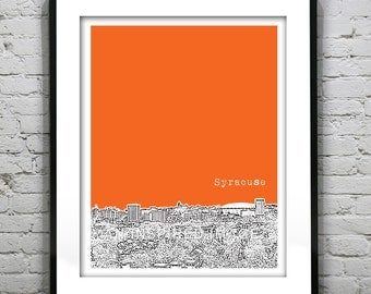 Syracuse Poster New York Art Print Syracuse NY Version 2