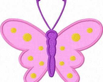 Butterfly Applique Machine Embroidery Deisgn NO:0013