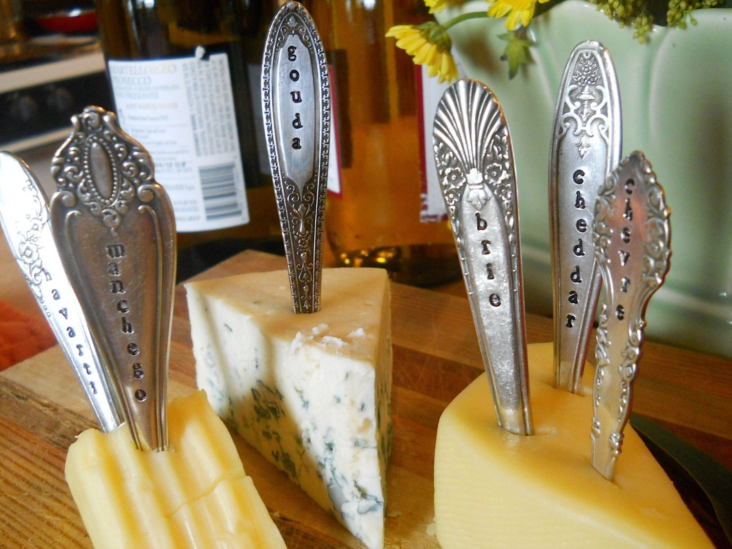 Old Silverware makes upcycled Cheese Markers from Etsy