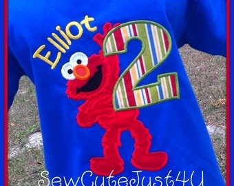 Full Body Elmo Birthday Number Shirt