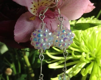 Wedding-dangle Earrings - Crystal like