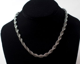 Double Helix Necklace - Stainless Steel