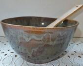 Sage Green Ceramic Serving Bowl, Wild Crow Farm Pottery