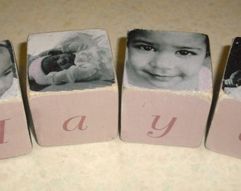 "Personalised wooden 2"" Photo Blocks"