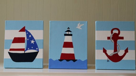 Items similar to nautical nursery decor wall decor acrylic for Anchor decoration