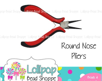 Round Nose Pliers Jewelry Tools - Wire Wrapping Jewelry Plier - Red and Black Pliers