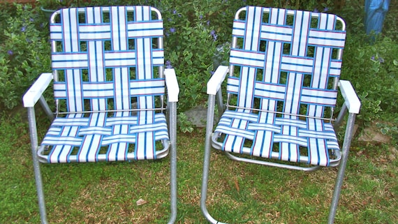 Aluminum Lawn Chairs Folding Webbed Rv Matching By