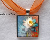 Two Lotus Flowers Pendant - APendantInTime