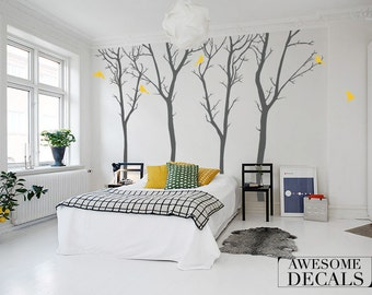 Winter Tree Wall decal - living room - wall decals - Wall Sticker - Home decor - LARGE tree decal / 065
