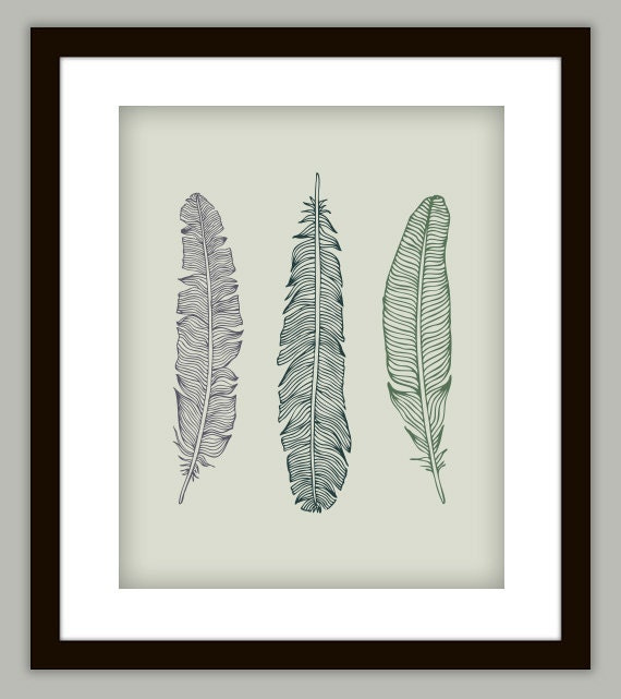 feather bathroom art print poster customize with any color