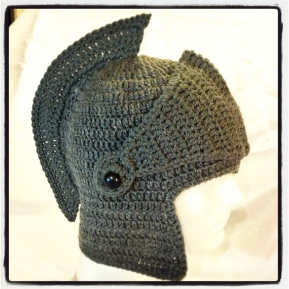 Crochet Knight Helmet : Crochet knight/gladiator helmet by CreativeHandsByTM on Etsy