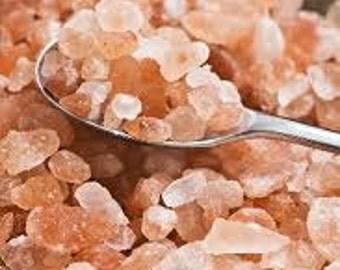 Himalayan Pink Salt Course Ground Bulk 2 OZ Great For Bath Salts,Soapmaking,Crafts