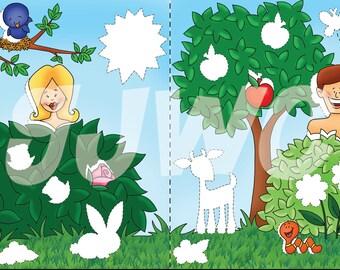 GARDEN of EDEN Children's File Folder Game - Downloadable PDF Only