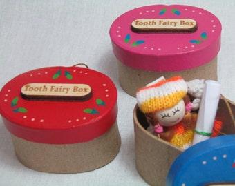Tooth box , Tooth fairy box ,  children's keepsake box , gift for kids