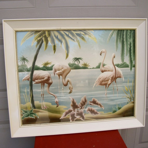 1950s Turner Pink Flamingo Print By Thesterlingstar On Etsy