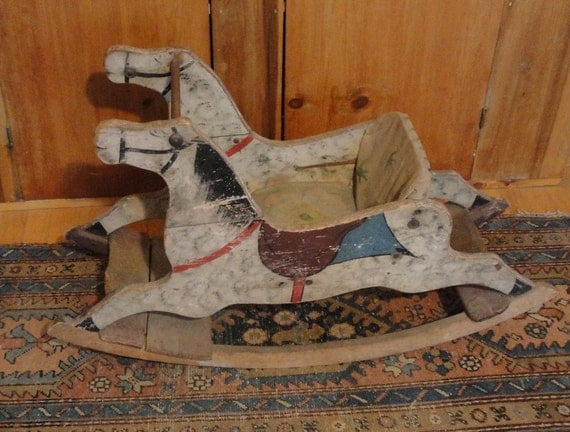 Antique Horse Rocking Chair