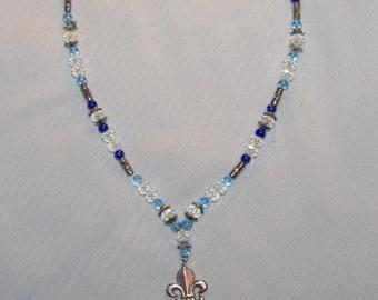 Blue Fleur De Lis set