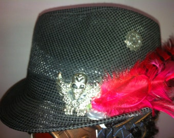 Fedora with Feathers