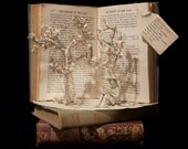 """Photographic Print of Book Sculpture 'From Within a Book' 10"""" x 8"""""""