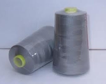 Budget 5000m polyester 120 Thread Cone Mid Grey Clearance