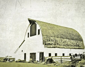 Barn Photography, old barn photography, monochromatic photography, rustic barn, olive green, gray, Rustic Home Decor, Primitive Wall Art