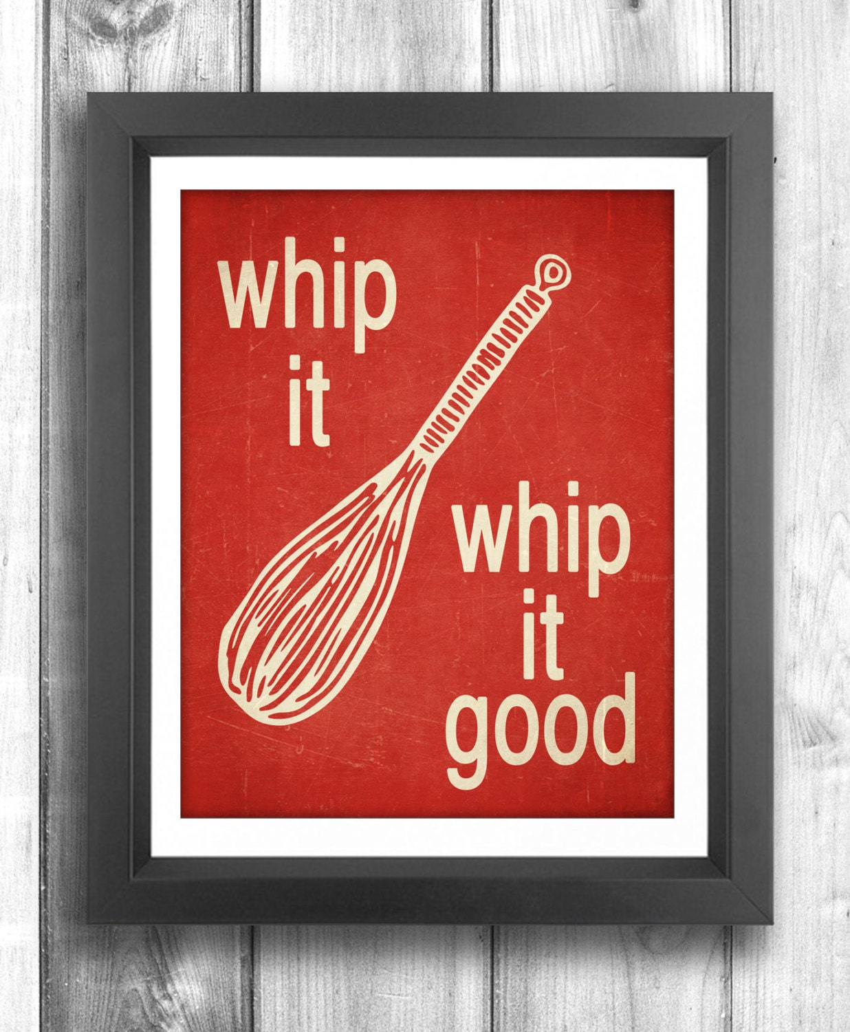 Whip It Whip It Good Typographic Poster Digital By