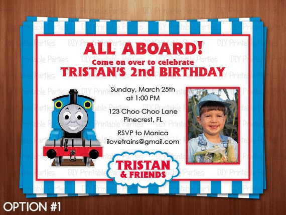 Thomas The Train Invitations Personalized with beautiful invitations design